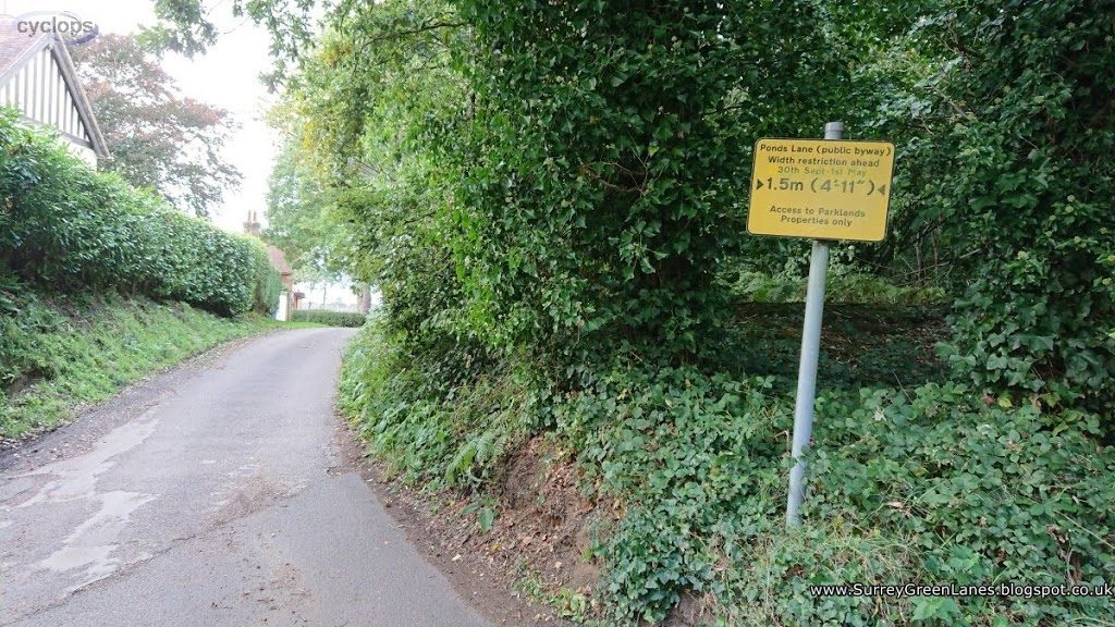 Ponds Lane ROW511 entry North