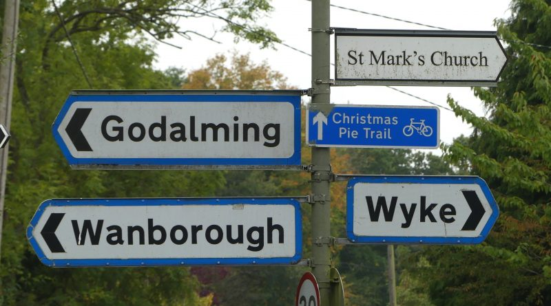 Christmas Pie Road Signs