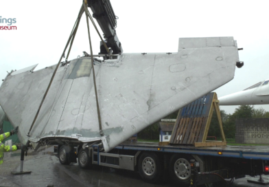 Collecting P.1127 wing from Brooklands Museum for Wings Museum Kestrel XS694 restoration project
